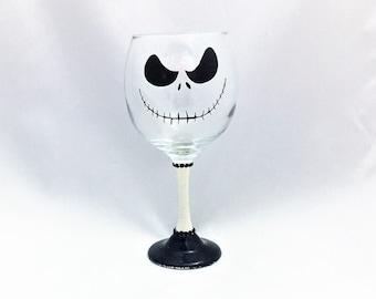 Hand Painted 3D Halloween Wine Glass, Fall Wine Glass Gift For Halloween, Halloween Decor, Halloween Wedding Favors, Halloween Silhouettes
