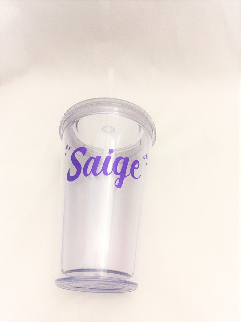 Reusable Water Bottle Stocking Stuffers for Teens Custom Tumbler with Straw Insulated Acrylic Name Tumblers Personalized Tumbler