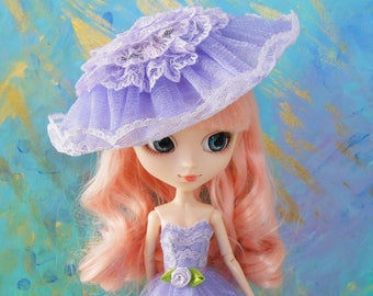 "Blythe / Pullip - ""Splendor of the Garden"" Hat / Fascinator"