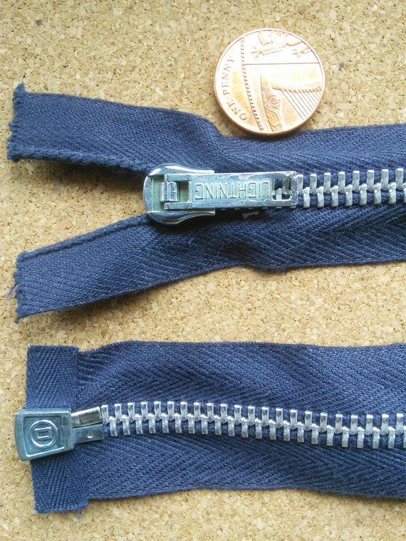 Vintage Regular Metal Zip 14 Inches