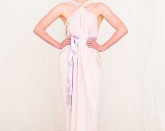 Pale Pink UK8/UK10 Evening Prom Dress