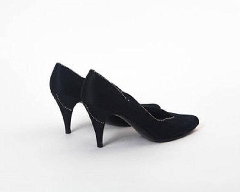 78209d8af Vintage Rhinestone BLACK PUMPS Neiman Marcus Stuart