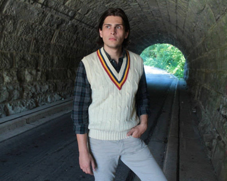 c2ecbe7bba 80s Sweater Vest Vintage BURBERRY S ENGLAND Made Modern