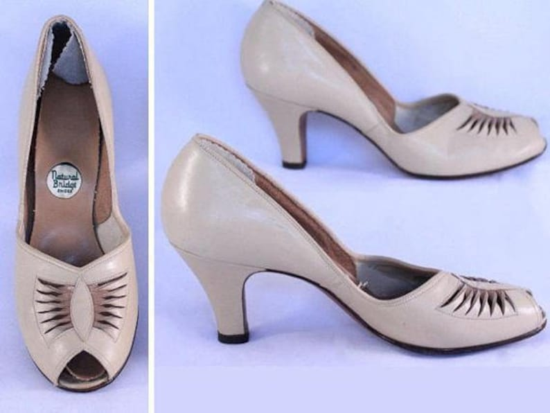 40s Leather Pumps
