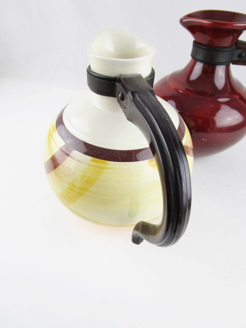 Vintage Redwing or Vernonware /'Organdie/' Carafes Pitchers Ceramic Carafes With Wood Handles Your CHOICE Collectible and Usable