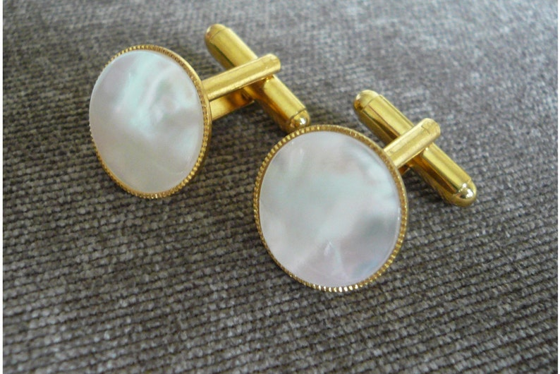 Mother Of Pearl Cuff Links Easter Gift For Him 30th Etsy