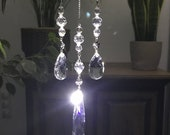 Crystal pendant suncatcher chandelier glass hanging, sun catcher crystals for windows, deco crystals, crystal hanging