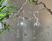 6- or 9-set elegant Crystal decor hangings, suncatcher crystals for windows, decor branches, wedding crystal, cristmas decor