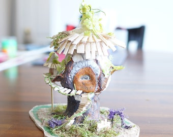 Miniature Fairy House Garden Tealight Holder Nightlight 1/48 Quarter Scale