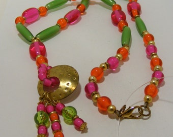 Vintage Frutti Tooty Neon Lucite Necklace