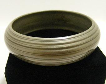 Vintage Silvery Plastic Bangle