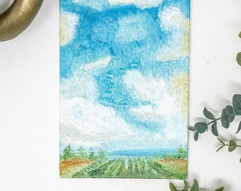 Landscape on Canvas Painting- 5x7 Oil Painting