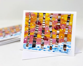 Art Notecards-Set of 10 Notecards-Featuring Nora's Artwork-Portion of Proceeds Donated to Charity