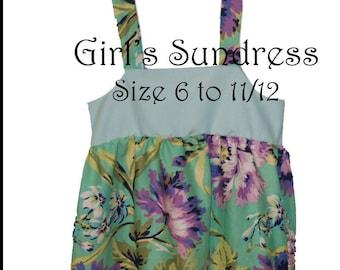Girls Sundress PDF Pattern Tutorial 6 - 12 years