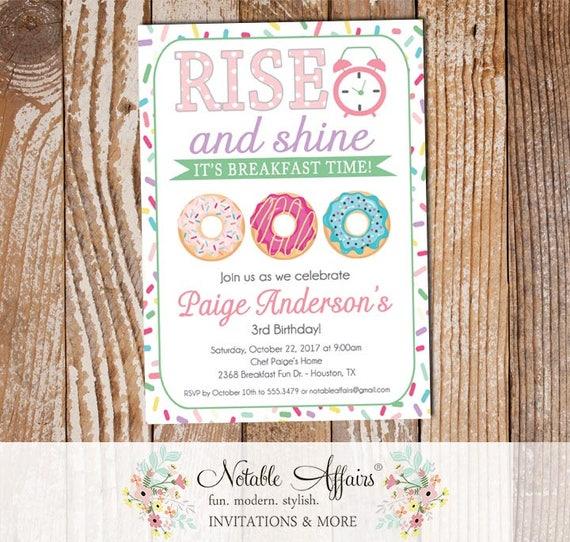 Rise and shine donut sprinkles birthday invitation sprinkle etsy image 0 filmwisefo