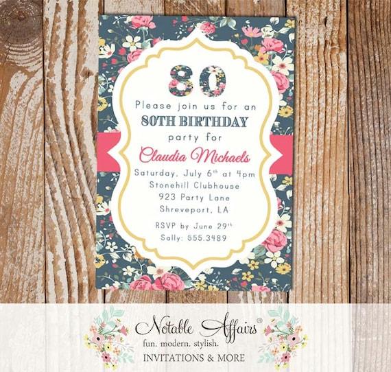 Floral Milestone Birthday 13th, 16th, 18th, 20th, 21st