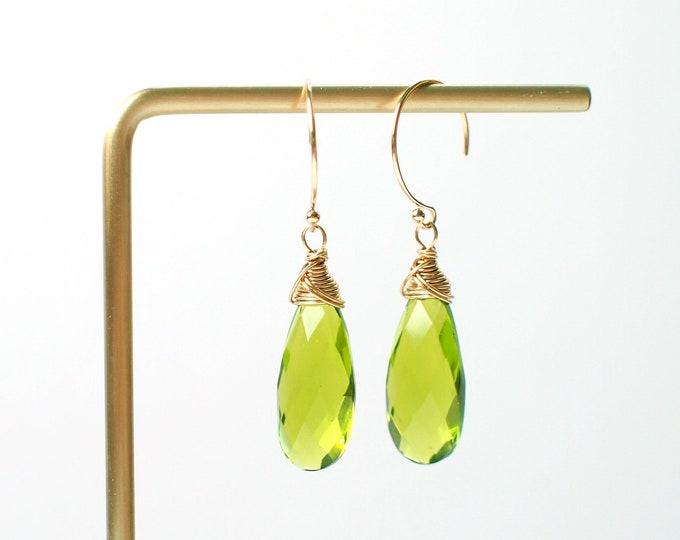 Peridot Earrings // 14K Gold-filled // Sassy and Stylish
