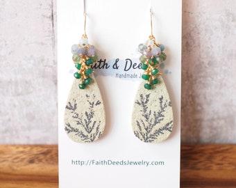 Gem Stone Earrings