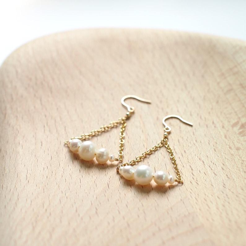 Pearl Earrings  14K Gold-filled  Feminine /& Elegant