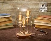 Edison Bell Jar Lamp - Chrome