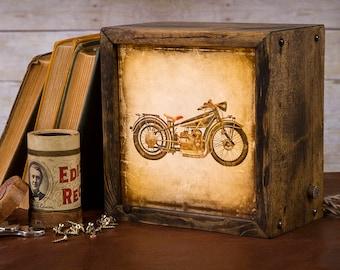 Edison Lightbox | Motorcycle | Light Box | Table Lamp | Desk Lamp | LED | Lamp | Harley Davidson
