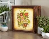 LED Lightbox | Edison Lightbox | Botanical | Light Box | Table Lamp | Desk Lamp | LED | Lamp | Plants | Flowers | Botany | Bouquet