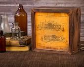 LED Lightbox   Edison Lightbox   Patent   Light Box   Table Lamp   Desk Lamp   LED   Lamp   Firetruck   Firefighter