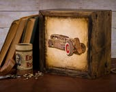 LED Lightbox | Edison Lightbox | Car | Light Box | Table Lamp | Desk Lamp | LED | Lamp | Hot Rod | Automobile