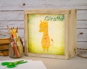 LED Lightbox | Edison Lightbox | Children | Light Box | Table Lamp | Desk Lamp | LED | Lamp | Nursery | Zoo | Giraffe