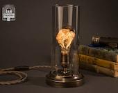 Flickering Edison Bulb Table Lamp | Desk Lamp | Edison Lamp |