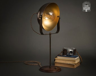 Studio Table Lamp | Aged Brass | Desk Lamp | Edison Light Bulb | Table Lamp | Bed Light | Night Stand | Leora Collection