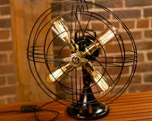 Fan Lamp | GE Model | Table Lamp | Desk Lamp | Nightlight | Bed light | Vintage Fan | Lamp | Steampunk lamp | Steampunk | Large Fan