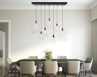 Dining Room Globe Chandelier - Customizable