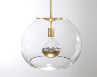 16″ Brushed Brass Valentina Globe Pendant