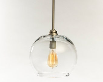 Glass Pendant Light Fixture Edison Bulb Pendant Kitchen - Kitchen light fixtures edison bulb