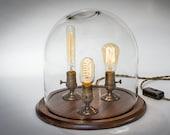 Edison Bell Jar Lamp - Table Lamp - Desk Lamp - Glass Dome - Bell Jar