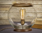 Globe Edison Table Lamp | Desk Lamp | Edison Light Bulb | Home Decor | Lighting | Edison Bulb