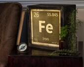 LED Lightbox | Edison Lightbox | Periodic Element | Light Box | Table Lamp | Desk Lamp | LED | Lamp | Chemical Elements | Science | Iron