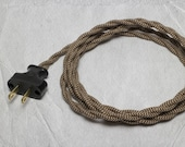 Lamp Cord Kit | DIY Kit | Fan Lamp | How To | Lamp Parts | Lamp Supplies | Lamp Switch | Lamp Dimmer | Brown Lamp Cord | Vintage Cord