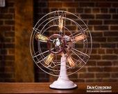 Fan Lamp   Westinghouse Model   Table Lamp   Desk Lamp   Bed light   Vintage Fan   Lamp   Steampunk lamp   Steampunk   Industrial Light