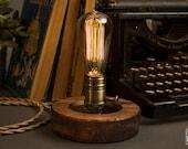 The O Edison Table Lamp | Edison Lamp | Desk Lamp | Wooden Lamp | Edison Table Lamp | Edison Light Bulb