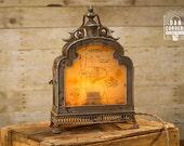 Vintage Fan Patent Lantern Table Lamp