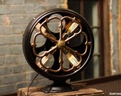 Radio Speaker Table Lamp | Desk Lamp | Antique | Steampunk | Atwater Kent | Industrial | Bed Light | Night Light | Light | Lamp | Large Size