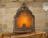 Vintage London Map Lantern Table Lamp