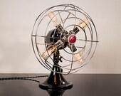 Fan Lamp | GE Model | Table Lamp | Desk Lamp | Nightlight | Bed light | Vintage Fan | Lamp | Steampunk lamp | Steampunk | Chrome
