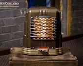 Vintage Heater Table Lamp - Desk Lamp - Bed light - Night Light - Industrial Light - Lamp - Steampunk - Lamp - Lighting - Art Deco