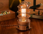 Vintage Industrial Explosion Proof Cage Edison Bulb Table Lamp - Desk Lamp - Bed Light - Night Light - Lamp - Industrial - Steampunk