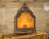 Vintage Bicycle Patent Lantern Table Lamp