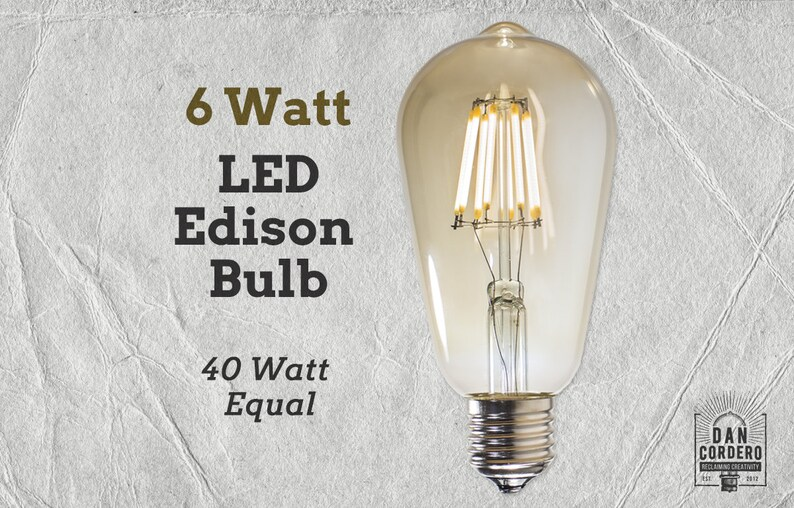 30 Watt Equivalent 2800 Kelvin Warm White LED Bulb LED Light Source AVAWAY E26 LED Light Bulbs Vintage Edison Bulb 3 Watt