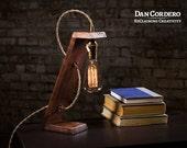 Free Shipping | Wooden Edison Table Lamp | Desk Lamp | Bed Light | Night Light | Lamp | Industrial | Edison Bulb